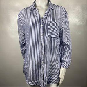 Grand&Greenw Button Down Blue&White Strips s: XL